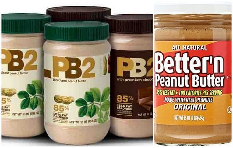 Peanut butter powders and low cal options