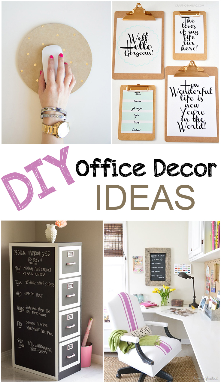 Diy office d cor for Decorating work office ideas