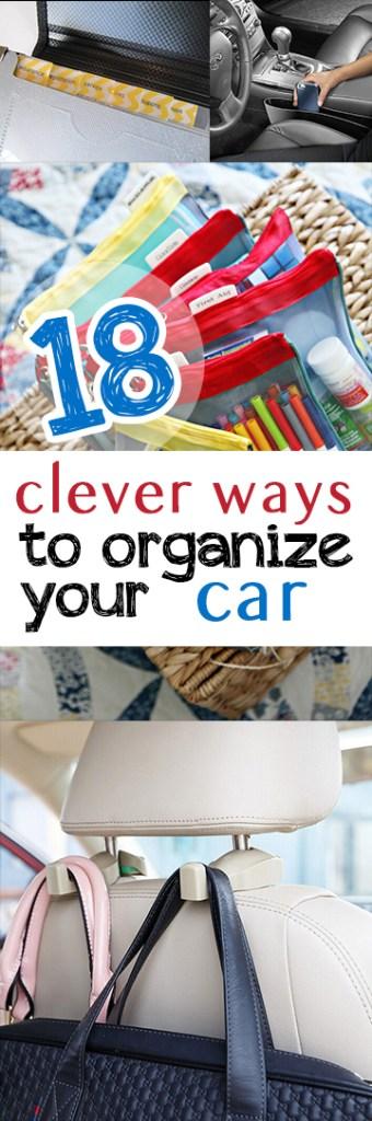 Car organization, organize your car, clean your car, popular pin, car cleaning, organization hacks, life hacks, life tips.