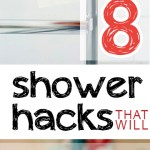 Shower hacks, shower tricks, bathroom organization, kitchen organization, popular pin, bathroom tips, cleaning hacks, bathroom cleaning hacks.