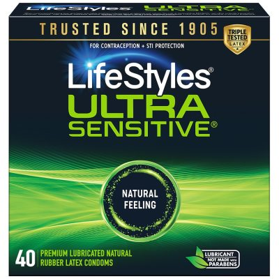 LifeStyles Lubricated Latex Condoms Ultra Sensitive ...