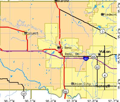 El Reno, Oklahoma (OK 73036, 73762) profile: population, maps, real estate, averages, homes ...