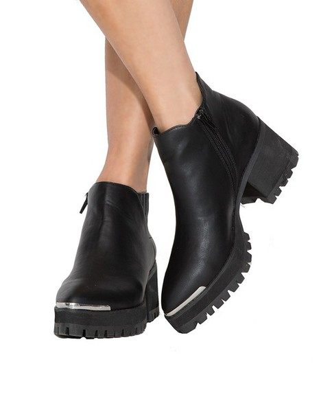 typical black high heeled shoes