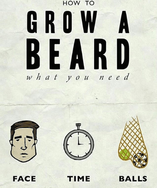 How to grow a beard - find the answer