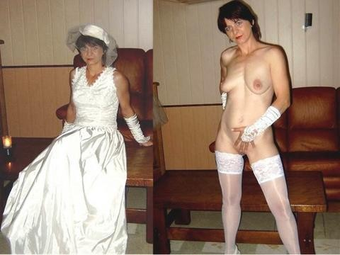 clothed then unclothed brides