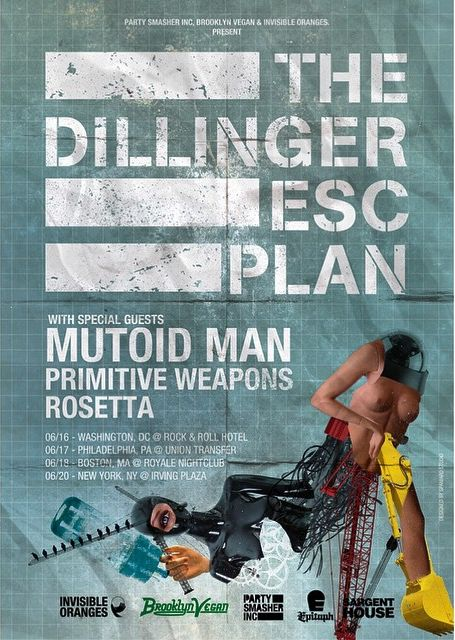 Tour - Dillinger Escape Plan - 2015