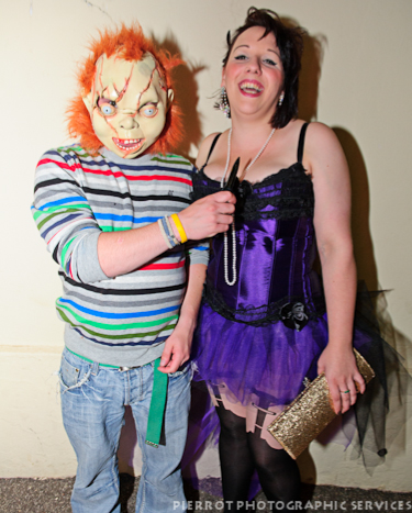 Cromer carnival fancy dress Chucky with girl