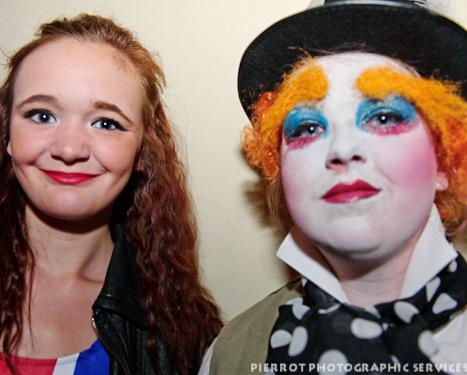 Cromer carnival fancy dress pretty girl and clown