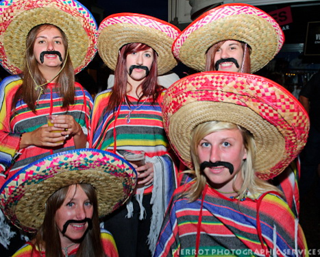Cromer carnival fancy dress girls wearing sombreros dressed as Mexicans