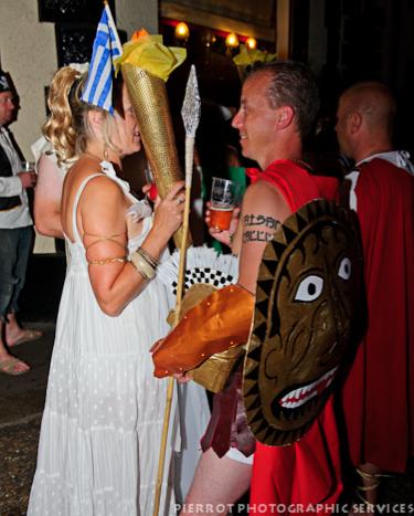 Cromer carnival fancy dress greek olympian and roman soldier