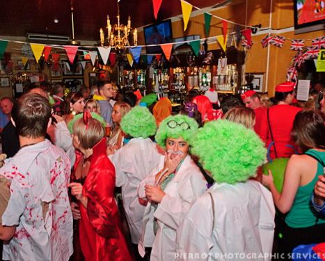 Cromer carnival fancy dress packed Duke of Wellington pub Cromer