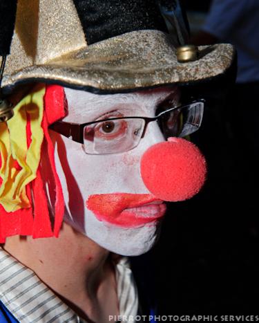 Cromer carnival fancy dress sad clown