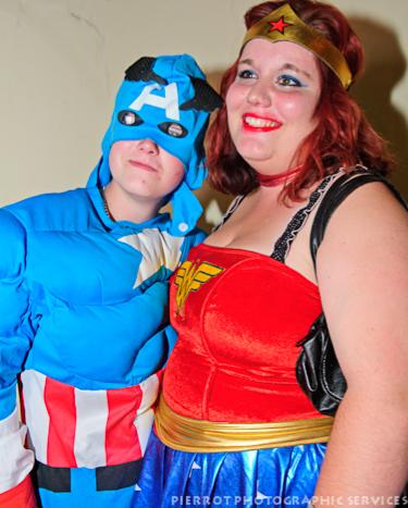 Cromer carnival fancy dress superwoman and friend