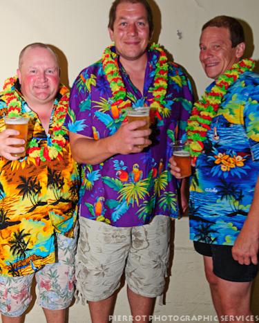 Cromer carnival fancy dress three men in hawaiian tops
