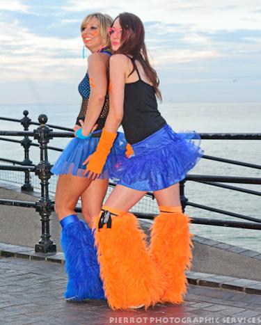 cromer carnival fancy dress two cheeky girls 2