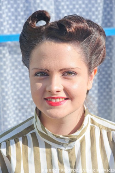Pretty girl at the 1940s weekend in Sheringham