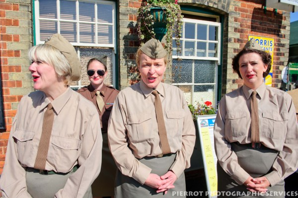 American Tan singers at the 1940s weekend in Sheringham, North Norfolk