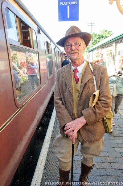 Man in period costume at the 1940s weekend in Sheringham, North Norfolk