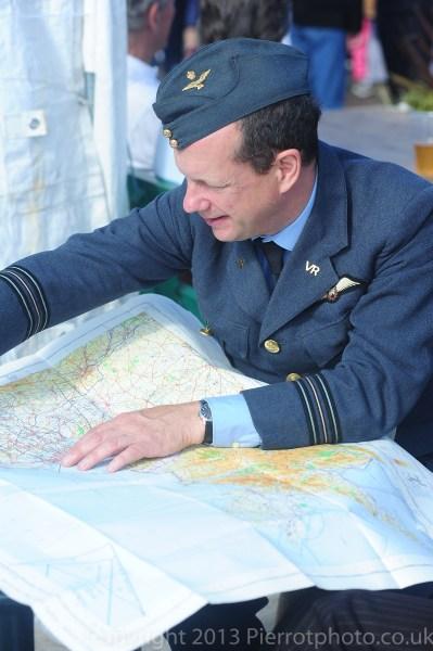 RAF pilot consulting map