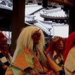 節分は京都の神社寺の人気イベント!!狂言を鑑賞し鬼が舞い福豆を頂戴する❣