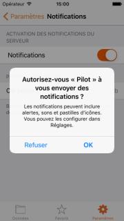 Autoriser l'envoi de notifications PUSH
