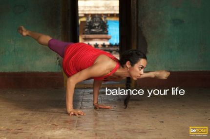 Balance your life. #BeYogi #yoga #fitness #health #motivation #inspiration {PilotingPaperAirplanes.com}