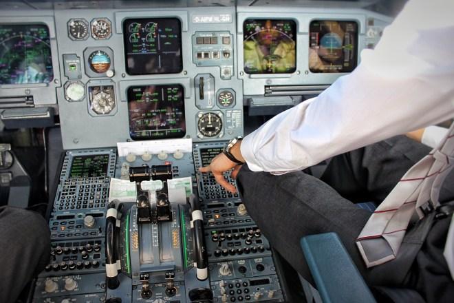 Jumpseat Flug im Cockpit