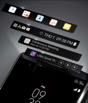 lg v10 pantalla auxiliar