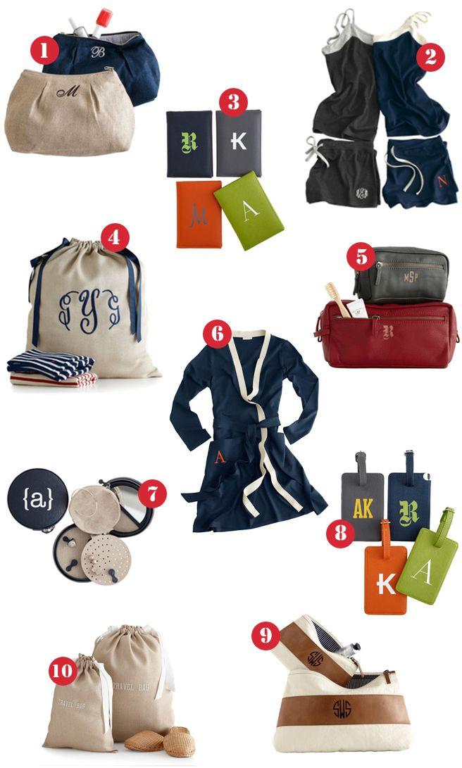 travel essentials monogram
