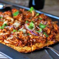 Grand Bbq Ken Pizza Cut Into Light Bbq Ken Pizza Recipe Pinch Yum California Ken Grill Nutrition Facts California Ken Grill Orlando