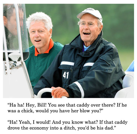 ex presidents golf club - bush and clinton