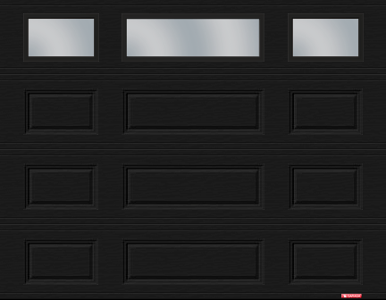 For Our Home We Picked Out Two 8u2032 X 7u2032 Black Standard Classic Mix Garage Doors With Thermopane Windows I Chose This Colour And Style Because Wanted