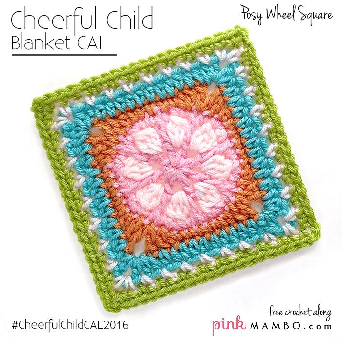 "Posy Wheel 6"" Crochet Square"