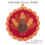 Crochet Little Gobbler Decorative Pot Holder