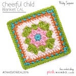 Cheerful Child Crochet Along Ruby Square #6