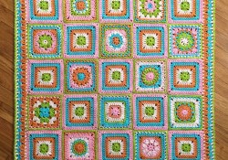 How to Make Cheerful Child Crochet Blanket in Different Sizes