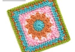 Cheerful Child Crochet Along Morgan Square #10
