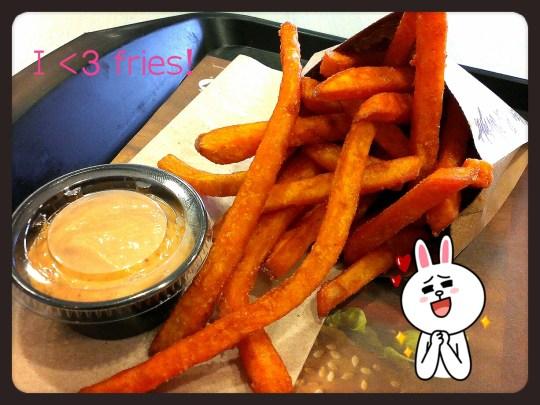A&W sweet potato fries