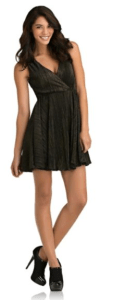 PARTY DRESS Kardashian Kollection  Women's Metallic Jersey Dress
