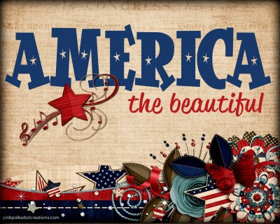 Thursday's Thought-America the Beautiful - Pink Polka Dot Creations