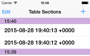 TableSections