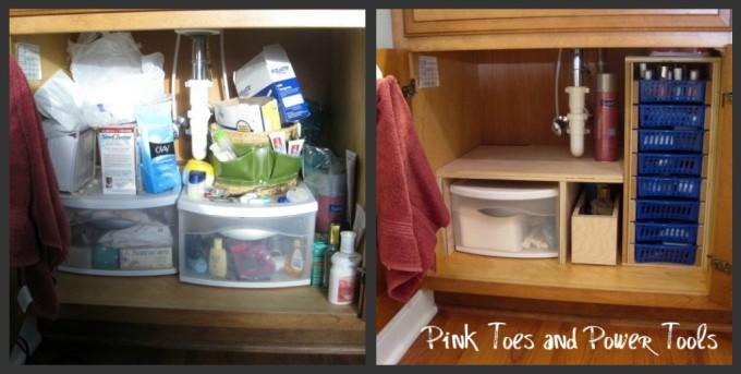 DIY under sink storage unit