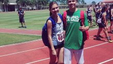 The Happy couple Mau (200, HJ) and Jose (200) getting ready for the PNG at Brent meet.