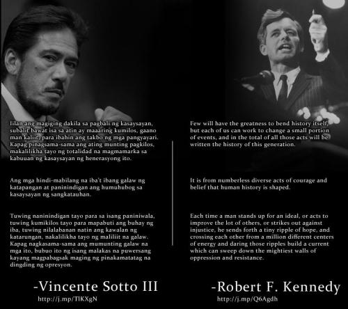 Tito Sotto copies speech of Robert Kennedy