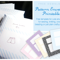 Morganisation with Free Printable Sewing Pattern Envelope Template
