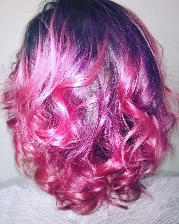 From blonde to pink is always a good idea! pinkhairhellip