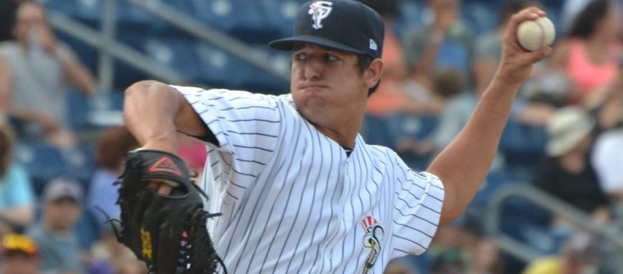 Caleb Smith threw fve scoreless innings to record his first win of 2015. (Robert M. Pimpsner)