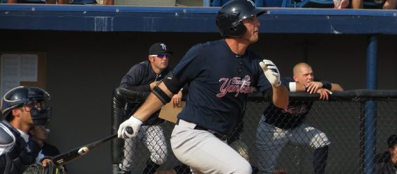Greg Bird's timing at the plate got better as the season progressed.  Prospects File Photo/Bryan Green)