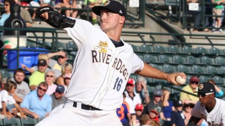 Yankees prospect Ian Clarkin with the Charleston RiverDogs in 2014 (Charleston RiverDogs)