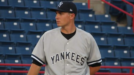 Yankees prospect Chaz Hebert with the Tampa Yankees  (Bryan Green)